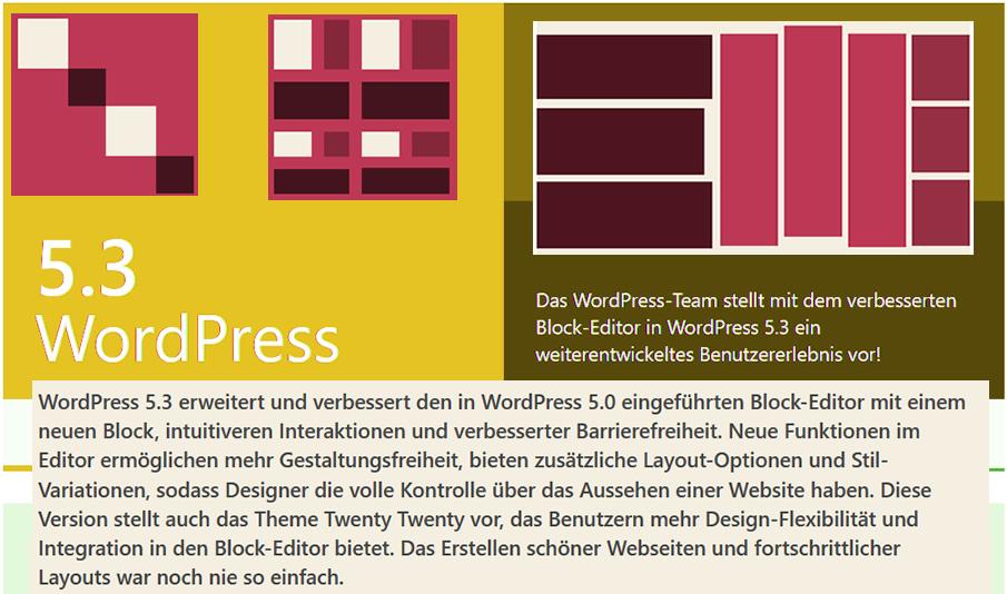 WordPress 5.3 – das ist neu